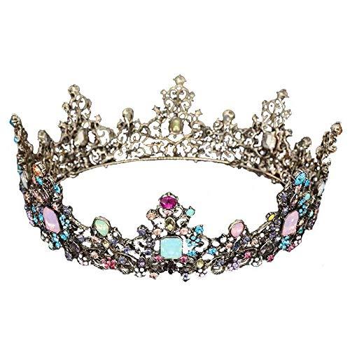 QAZWSX Vintage Nupcial Corona Mezcla Color Reina Vestido de Novia Accesorios Estilo...