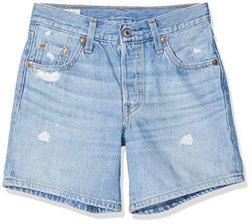 Levi's 501 Long Pantaloncini, Blu (Montgomery Mended Short 0013), W32 (Taglia Unica: 32) Donna