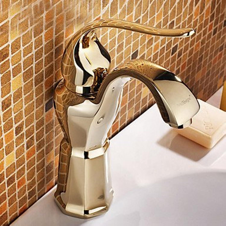 Antike Goldene verchromt Messing Waschbecken