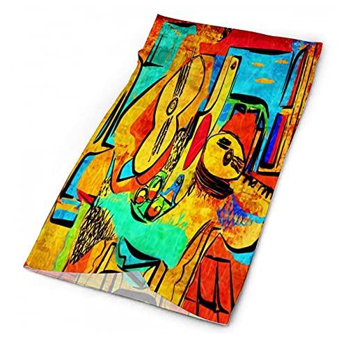 PicassoNot - Máscara facial sonriente con diseño de calavera, bandanas, variedad de moda, bufanda, al aire libre, festivales, deportes para hombres y mujeres