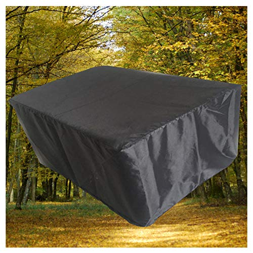 LITINGFC Outdoor Patio Furniture Covers 420D Heavy Duty Oxford Fabric Waterproof Garden Table Cover with Windproof Drawstring (Color : Black, Size : 325x208x58cm)