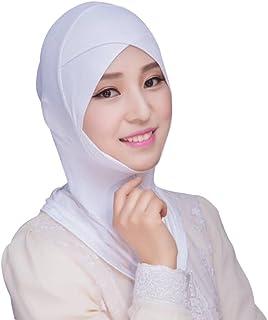 0c4dc427312 Hougood Hijab Femme Ladies Wrap Hijab Foulard Musulman Écharpe Hijab  Bonnets Islamic Turban Foulard Islamique Bonnet