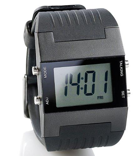 St. Leonhard Uhr mit Weckfunktion: Sprechende Herren-Armbanduhr mit Weckfunktion (Armbanduhr mit Weckerfunktion)