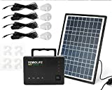 DIFU DENESTUS Solar Panel Charge Kits Lighting Tools Solar Charger 12W Generator Power Bank Inverter 4 LED Lamps Emergency Camping Cable Indoor Outdoor Battery Kits
