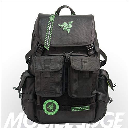 Mobile Edge Razer Tactical Pro 17 Inch Laptop Gaming Backpack, Black, Rugged Ballistic...