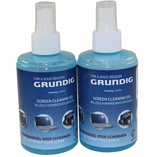 Preisvergleich Produktbild Unbekannt 2er Set GRUNDIG Bildschirmreinigungsgel Spray Sprühflasche 2X 200ml Screen clean