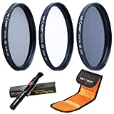 K&F Concept 37mm UV CPL ND4 Neutral Density Len Accessory Filter Compatible with Canon Nikon DSLR Camera + Cleaning Pen + Filter Pouch