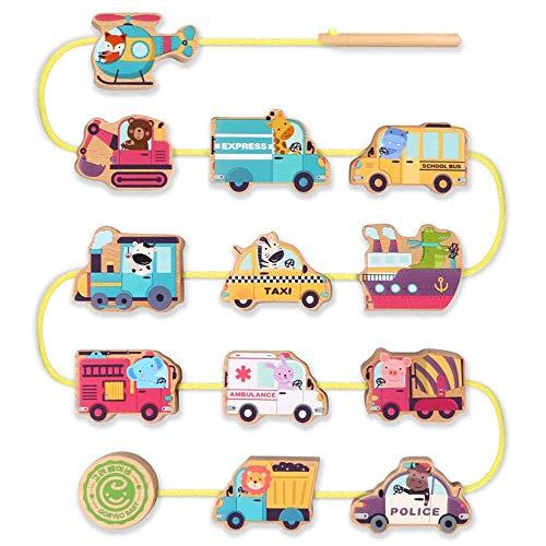 QINGJIA Bloques de construcción de niños Conjunto de cordones de cordones grandes para niños, inclinación de cuentas para niños pequeños Bloques de inclinación educativa 10 Piezas Juguete educativo cr