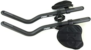 Oval Concepts 950 Ergo Carbon Clip On 31.8mm Bar Triathlon Bike Extensions New