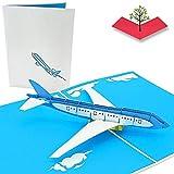 PopLife Cards Tarjeta emergente del día del padre del avión del jet para todas las ocasiones el...