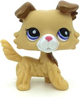 Littlest Pet Shop Collection LPS Figure Yellow Collie Dog Puggy Very Rare
