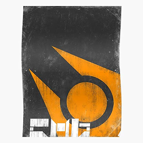 2 Halflife2 Logo City Half Hl Combine 17 Life Propaganda Regalo para la decoración del hogar Wall Art Print Poster 11.7 x 16.5 inch