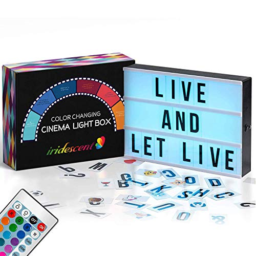 Color Changing Cinema Light Box with 228 Letters, Numbers & Emojis