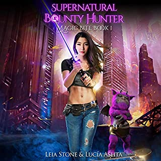 Magic Bite     Supernatural Bounty Hunter Series, Book 1              By:                                                                                                                                 Leia Stone,                                                                                        Lucia Ashta                               Narrated by:                                                                                                                                 Kate Marcin                      Length: 5 hrs and 50 mins     92 ratings     Overall 4.5