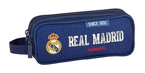 Safta Estuche Real Madrid Basket Oficial Triple cremallera, 210x70x85mm