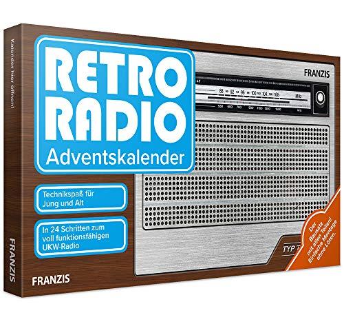 FRANZIS Retro Radio Adventskalender 2020 | In 24 Schritten zum eigenen UKW Radio | ohne Löten | Ab 14 Jahren: Bauen Sie in 24 Schritten Ihr eigenes UKW-Radio! Einfache Montage ohne Löten