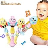 Brain Game Gowsch Baby Handgelenkrassel Macaron Baby Handglocke Baby Spielzeug Cartoon Rassel bunt