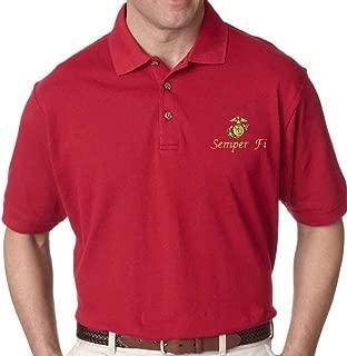USMC Semper Fi Marine Corps Polo Golf Shirt