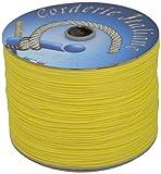 corderie italiane 006005889 cordino edilizia, giallo, 2 mm, 500 m
