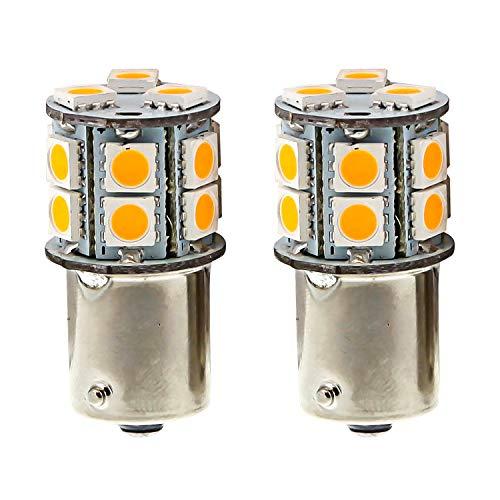 Pilot Automotive (IL-1157A-15-AM) Amber 15-SMD LED Turn/Tail Light Bulb - 2 Piece