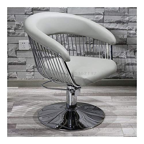 Mode Barbershop Chaise coiffure Salon de coiffure spécial Ins Chaise-simple coupe de cheveux de levage japonais Chaise Rétro (Color : Gray)