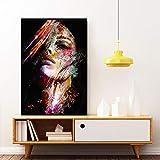 Unbekannt Abstrakte Wandkunst Leinwand Ölgemälde Frau Gesicht Bunte Wandbilder Poster Prints-40x60cm Kein Rahmen