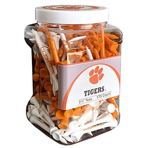 Team Golf NCAA Clemson Tigers 2-3/4' Golf Tees, 175 Pack, Regulation Size, Multi Team Colors