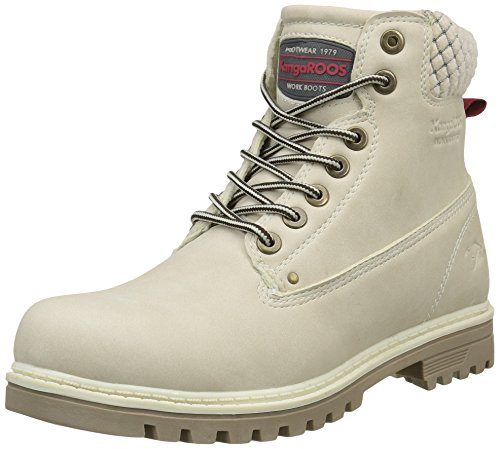 KangaROOS Damen Boots Riveter W Iii Desert, Off White, 37 EU, 67015#021799H