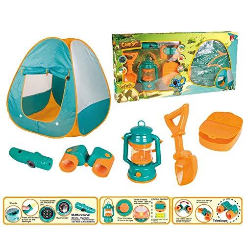 WJS Kleines Zelt mit Campingausrüstung Spielzeug-Werkzeug-Set for Kinder (Size : A)