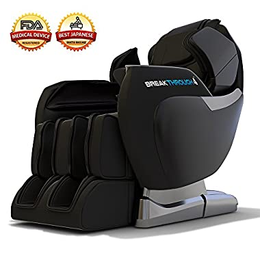 Medical Breakthrough 4 Massage Chair Recliner (ver 2.0) - Zero Gravity, Built-in Heat, Deep Tissue Shiatsu Massage, and Back Stretch (Black)