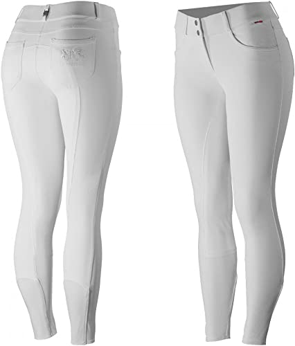 HORZE Culotte compétition à Fond Peau B Vertigo Kimberley, Femme - 44, Blanc