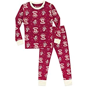 HARRY POTTER Pijama para niñas Hogwarts Ajuste Ceñido Multicolor 5-6 Años 7