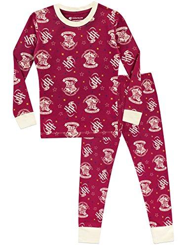 HARRY POTTER Pijama para niñas Hogwarts Ajuste Ceñido Multicolor 5-6 Años 4