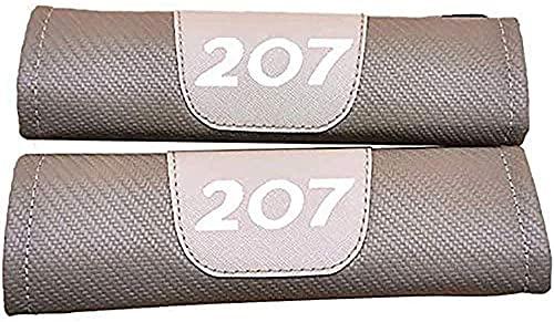 2 Piezas con coche Logo Almohadillas Cinturón Seguridad, para Peugeot 207, cubierta protectora de cinturón de seguridad cómoda suavey, accesorios de modelado decorativos