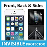 iPhone 5S Full Body INVISIBLE Screen Protector (Front, Back & Side Shields included) 360 Military Grade
