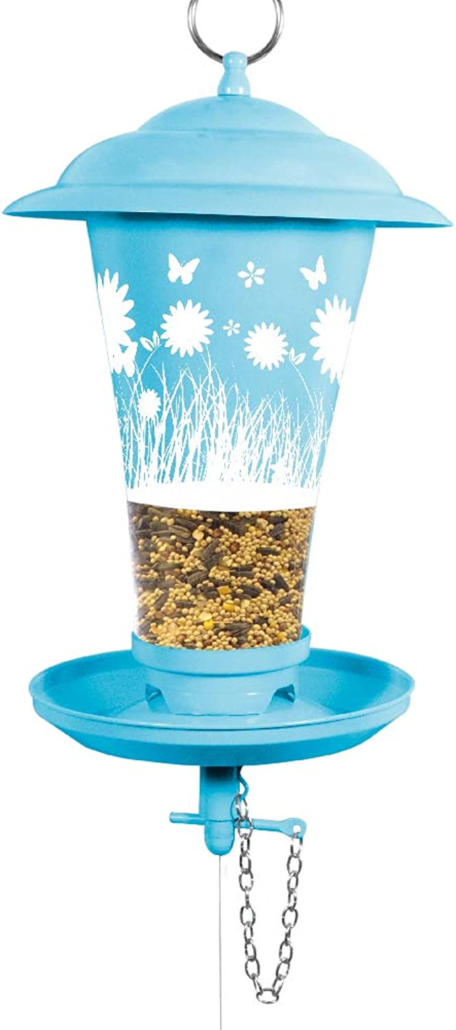 Effortless Products 010207 Floral Decorative Mixed Seed Feeder, bluee