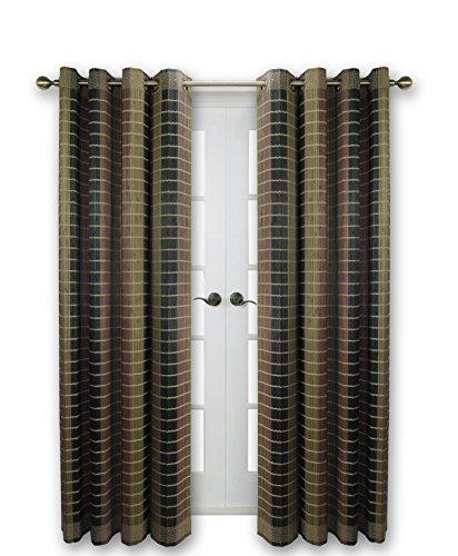 "Versailles Home Fashions BPU144884-12 Bamboo Wood Curtain Panel, 48"" x 84"", 12 Walnut"