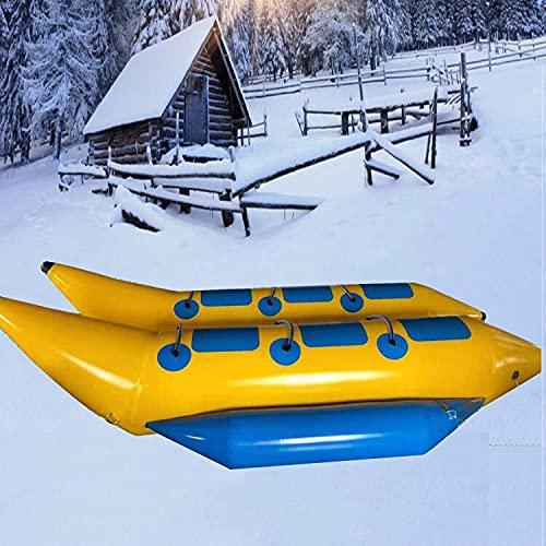 Kayak Inflable De Agua, Bote Banana De Nieve para 2-6 Personas, Adecuado para Surfear Y Esquiar para Adultos Y NiñOs,A