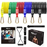 COOWOO Exercise Resistance Bands Set – 13 Pack Stackable Resistance Bands with 200lb Tension - Home Gym Work Out Equipment for Fitness, Strength, Yoga, Slim for Men Women