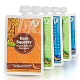 chuckle 5 Bolsas de Comida Reutilizables para Bebés, 170 ml - Sin BPA