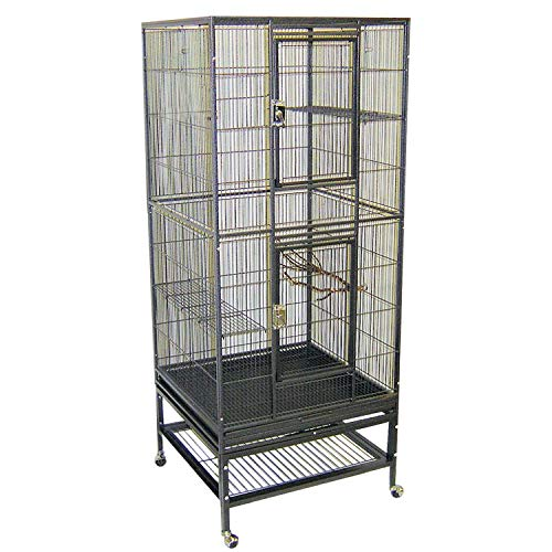 Exotic Nutrition Madagascar Cage - 60' Tall Durable Spacious Metal Cage - for Sugar Gliders, Squirrels, Marmosets & Other Small Pets