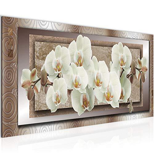 Bilder Blumen Orchidee Wandbild Vlies - Leinwand Bild XXL Format Wandbilder Wohnzimmer Wohnung Deko Kunstdrucke Braun 1 Teilig - MADE IN GERMANY - Fertig zum Aufhängen 205412c