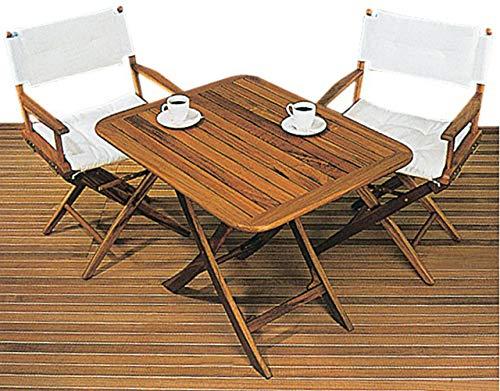 ARC teakhouten klaptafel, in hoogte verstelbaar 50x40 cm