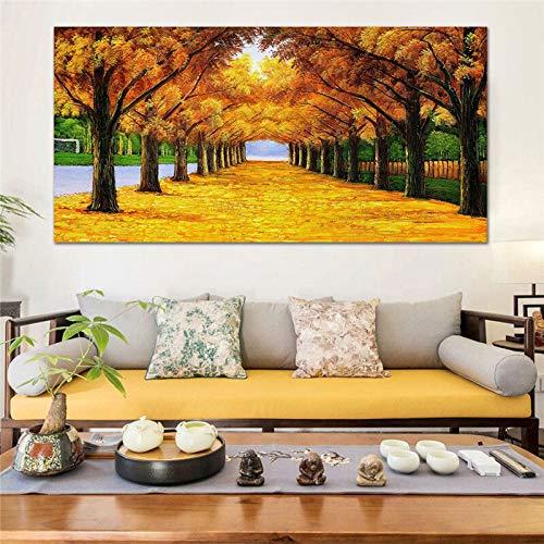 KWzEQ Lienzo de Gran tamaño, Pintura de Arte, decoración Moderna de la Sala, Lienzo, Pintura de Paisaje, impresión de Lienzo, impresión de póster60X120cmPintura sin Marco