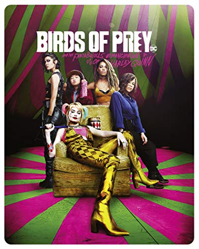 BIRDS OF PREY / HARLEY QUINN 4K ULTRA HD LIMITED EDITION STEELBOOK / IMPORT / INCLUDES BLU RAY / HDR 10+ / DOLBY VISION.