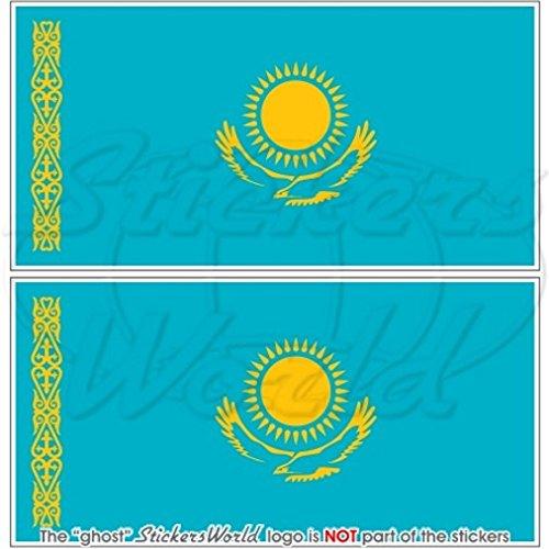 Kasachstan Kazakhstani Flagge kasachischen 109,2cm 110) Bumper Sticker, Aufkleber Vinyl X2