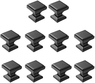 "Aviano Collection - Cabinet Hardware Modern Zane Square Knob - 1-1/8"" - 10 Pack"