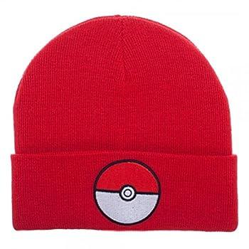 Pokemon Pokeball Red Cuff Beanie Winter Hat
