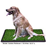 LOMANTOWN 25'x20' Pet Potty Pad Artificial Grass Trainer Portable Dog Turf Artificial Grass for Dogs Potty with Tray, 3 Layered System Fake Grass