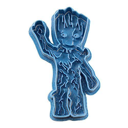 Cuticuter Groot Baby Whole Guardians of The Galaxy Cookie Cutter, Blue, 8 x 7 x 1.5 cm